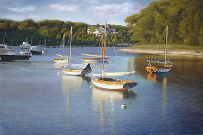Cape Cod Painting - Quissett Harbor Blue by Julia O'Malley-Keyes
