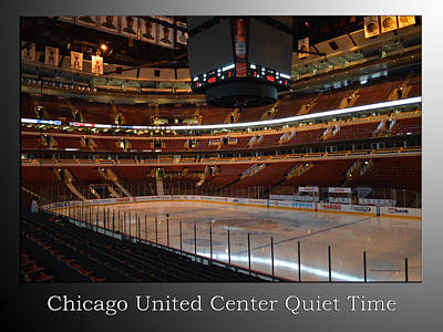Photograph - Quite Time Chicago United Center Before The Gates Open 01 With Text Sb by Thomas Woolworth