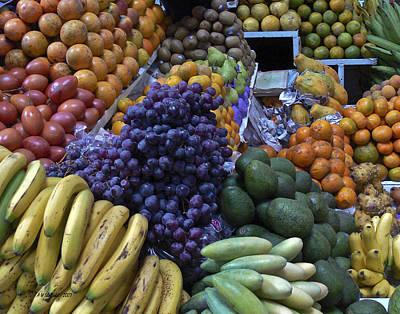 Avacados Photograph - Quito Ecuador Market 1 by Allen Sheffield