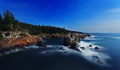 Quoddy Photograph - Quoddy Coast By Moonlight by Bill Caldwell -        ABeautifulSky Photography