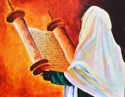 Purim Painting - Rabbi by Dawnstarstudios
