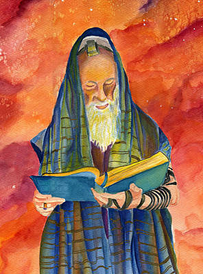 Purim Painting - Rabbi I by Dawnstarstudios