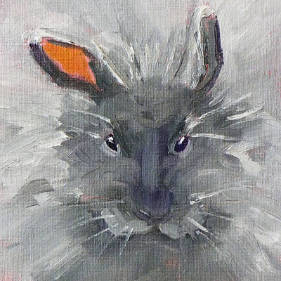 Rabbit Fluff Print by Nancy Merkle