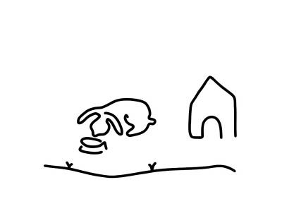 Rabbit Hare Domestic Animal Print by Lineamentum