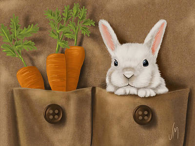 Carrot Painting - Rabbit Hole by Veronica Minozzi