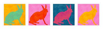 Rabbit Photograph - Rabbits Four Across by Carol Leigh