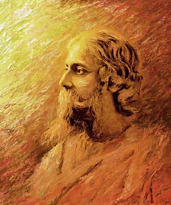 Statesmen Digital Art - Rabindra Nath Tagore by Shubnum Gill