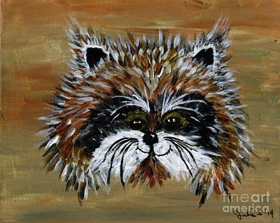 Raccoon Painting - Raccoon by Julia Stubbe
