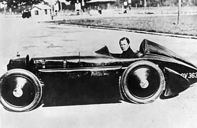 Dexterity Photograph - Race Car Driver Gwenda Stewart by Underwood Archives