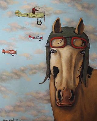 Goggles Painting - Race Horse by Leah Saulnier The Painting Maniac