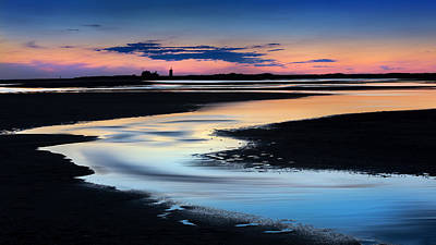 Race Point Low Tide Sunset Print by Bill Wakeley