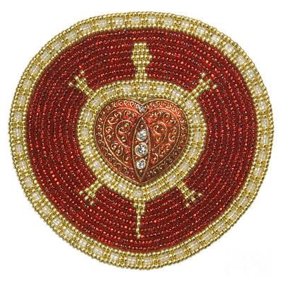 Bw's Red Heart Turtle Original by Douglas K Limon
