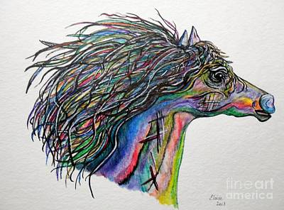 Animal Portrait Painting - Racing The Wind ... A Story Painting by Eloise Schneider