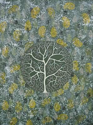 Blossom Painting - Radha Vriksh by Sumit Mehndiratta