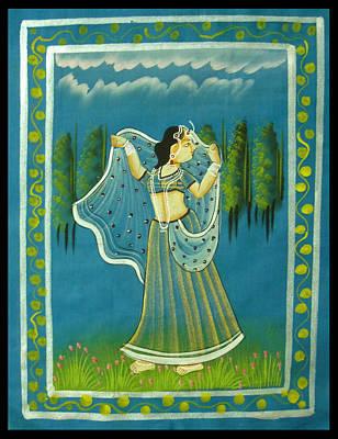 Women Together Mixed Media - Radha's Passion by Sivaanan Balachandran