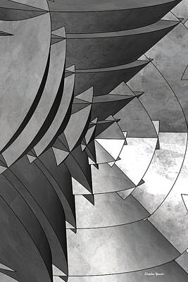 Radial Edges - Galvanized Print by Stephen Younts