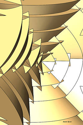 Radial Edges - Gold Print by Stephen Younts