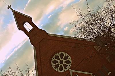 Clouds Photograph - Radiant Church by Kristin Dawdy
