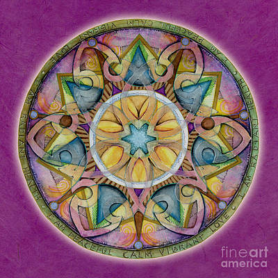 Radiant Health Mandala Print by Jo Thomas Blaine
