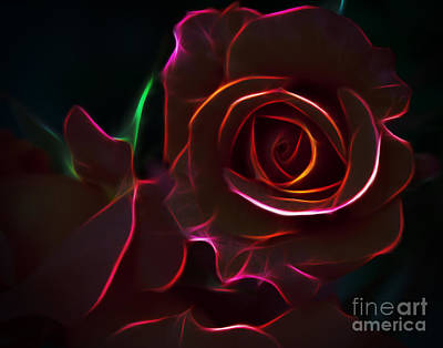 Radiant Rose  Print by Joann Copeland-Paul