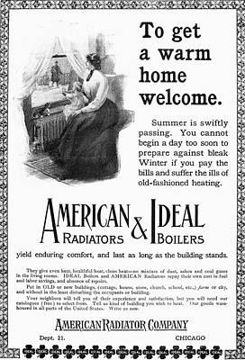 Radiator Drawing - Radiator Ad, 1905 by Granger
