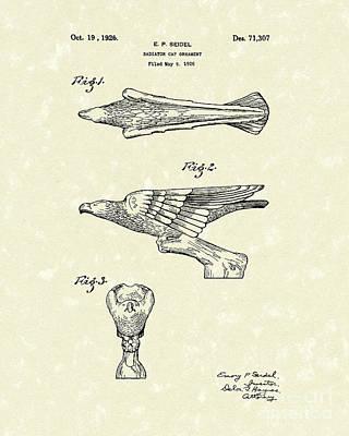 Radiator Drawing - Radiator Ornament 1926 Patent Art by Prior Art Design