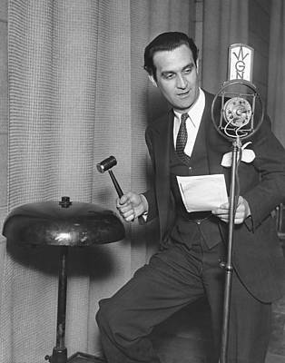 Gong Photograph - Radio Broadcasts Crime News by Underwood Archives