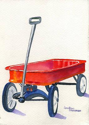 Radio Flyer Wagon Painting - Radio Flyer by Lou Ann Overman