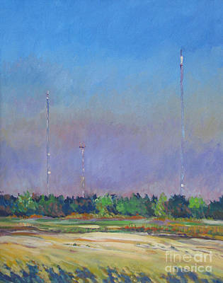 The Downtown Gallery Painting - Radio Towers by Vanessa Hadady BFA MA