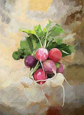 Radishes Print by Enzie Shahmiri