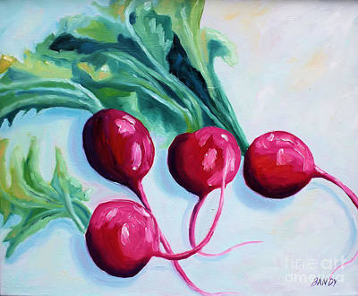 Radishes Print by Todd Bandy