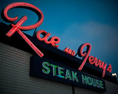 Signage Photograph - Rae And Jerry's by Bryan Scott