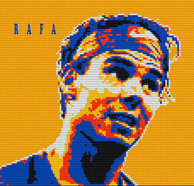 Rafael Nadal Lego Digital Painting Print by Georgeta Blanaru