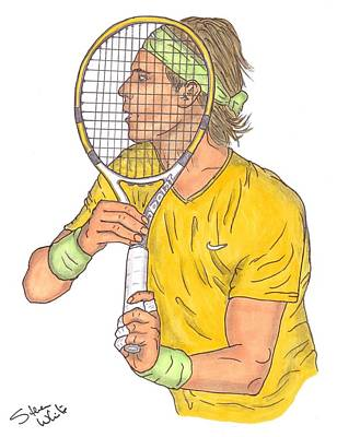Steven White Drawing - Rafael Nadal by Steven White