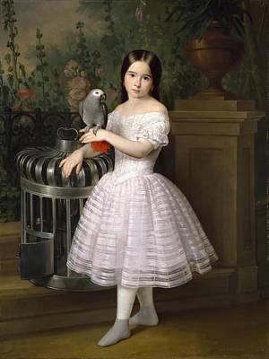 Antonio Maria Esquivel Painting - Rafaela Flores Calderon by Antonio Maria Esquivel