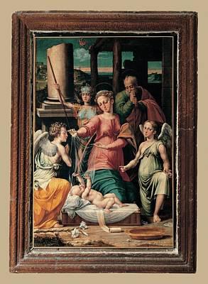 Hagiography Photograph - Raffaellino Del Colle, The Madonna by Everett
