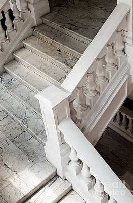 Raffle's Hotel Marble Staircase Print by Rick Piper Photography
