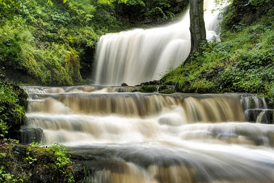 Knaresborough Photograph - Raging Scaleber Force Falls by Chris Frost