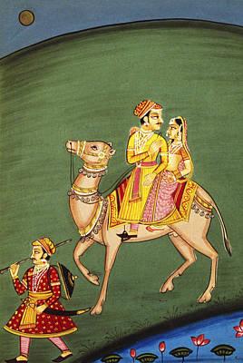 Ragini Maru Riding Camel Print by Dinodia