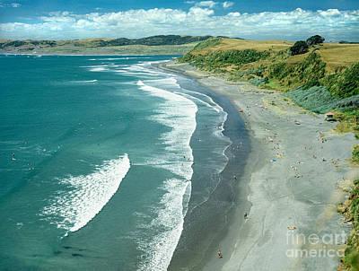 Aotearoa Photograph - Raglan Beach New Zealand by Bruce Stanfield