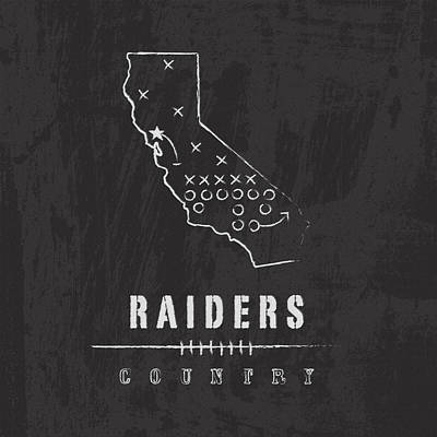 Raiders Country Print by Damon Gray