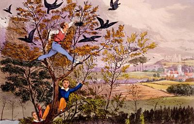 Raiding The Rook's Nest Print by Henry Thomas Alken