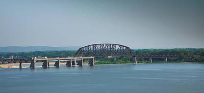 Clarksville Photograph - Railroad Bridge And Ohio River by Steven Ainsworth
