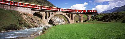 Stone Bridge Photograph - Railroad Bridge, Andermatt, Switzerland by Panoramic Images