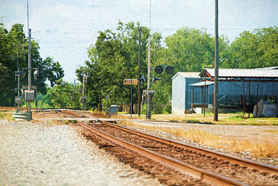 Railroad Crossing Brenham Texas Original by Linda Phelps