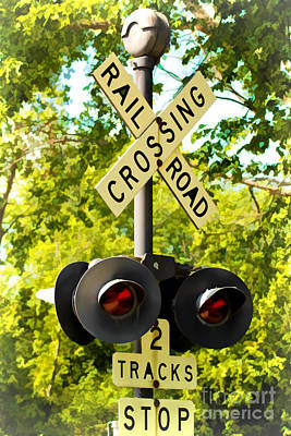 Railroad Crossing Print by Joann Copeland-Paul