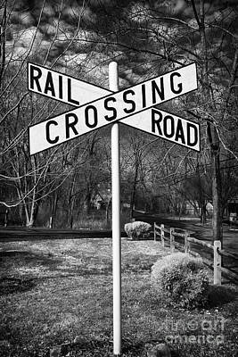 Railroad Crossing Print by John Rizzuto