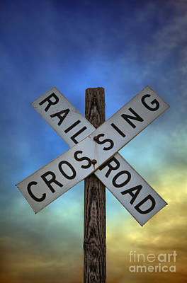 Railroad Crossing Sign Print by Brandon Alms