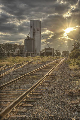 Sunrise Photograph - Railroad Sunrise by Jason Politte