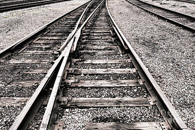 Railroad Switch Print by Olivier Le Queinec